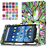 Fire 7 2015 Case - MoKo Slim Folding Cover for Amazon Fire Tablet (7 inch Display - 5th Generation, 2015 Release Only), Lucky TREE