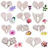 22pcs Gumpaste Flowers and Leaves Silicone Mold-Fondant Flower Silicone Veining Mold Gum Paste Flower Tools for Wedding Cake Decoration,Sugar Paste, Soap, Chocolate, Polymer Clay (Color: 22pcs Flower Mold)