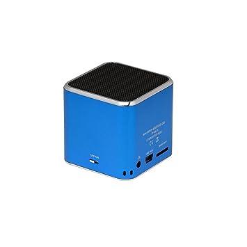Consumer Electronics Jay-tech Mini Bass Cube Bluetooth Aktiv Lautsprecher System Blau And To Have A Long Life. Portable Audio & Headphones