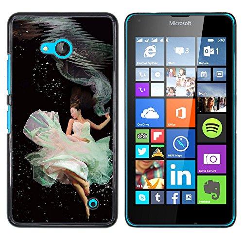NOKIA Lumia 640 , Cassa Cover Guscio Di Plastica (Underwater Ballerini)