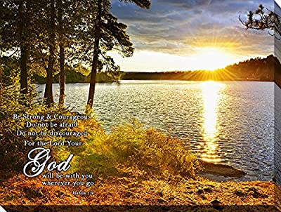 Art Christian Biblical Inspirational Scenery Canvas Stretched Framed Free Shpping Made in Canada from Framed Canvas Art