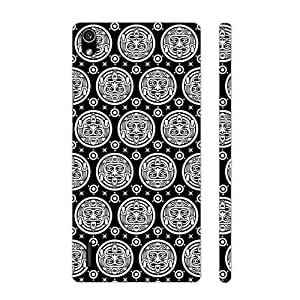Huawei P7 Black Woodo designer mobile hard shell case by Enthopia
