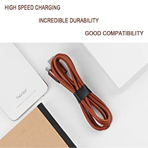 PS4 Controller Charger Cable (2pcs 3ft and 10ft) - Dual Shock 4 Micro USB Cable, Charging and Data Sync Cord for Sony Playstation 4, PS4 Slim/Pro Controller(Brown) (Color: brown)
