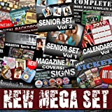 The Mega Set – Photoshop Pro Templates: Seniors, Sports, Wedding, Holiday Cards, Digital Backdrops, Fonts, Brushes & Much More!