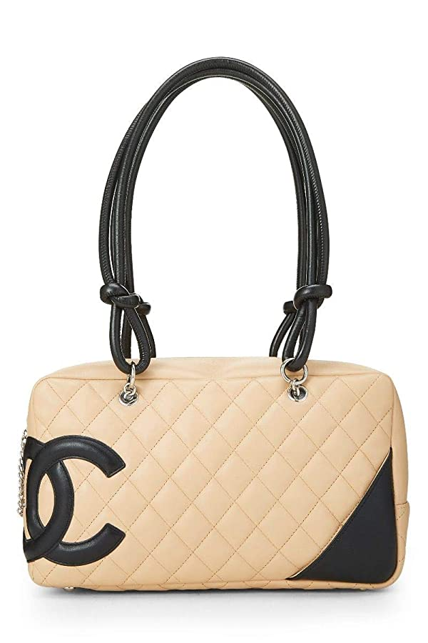 90b232ac6584 CHANEL Beige Quilted Calfskin Cambon Ligne Bowler (Pre-Owned) (Color:  Beige, Tamaño: One Size)
