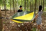 OuterEQ Portable Nylon Fabric Travel Camping Hammock