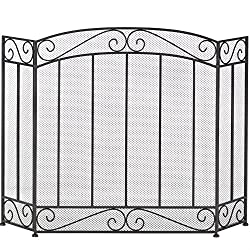 Class Style Iron Fireplace Screen by Home Locomotion