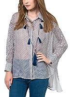 IRONI Camisa Mujer (Azul Marino)