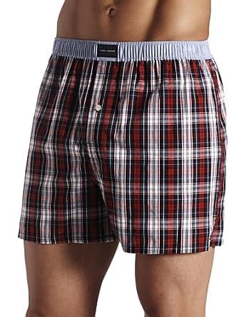 tommy hilfiger men 39 s tartan boxer short at amazon men s clothing store boxer shorts. Black Bedroom Furniture Sets. Home Design Ideas