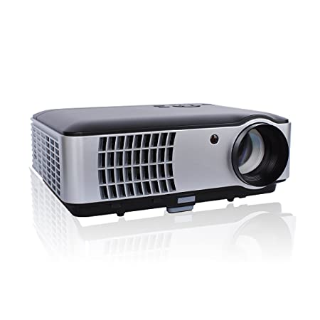 GIZGA® LED Projecteur Full HD 2800 Lumens Vidéoprojecteur Home Cinéma 1080P Projecteur Vidéo Supporte TV Vidéo Jeux PS3 - Noir