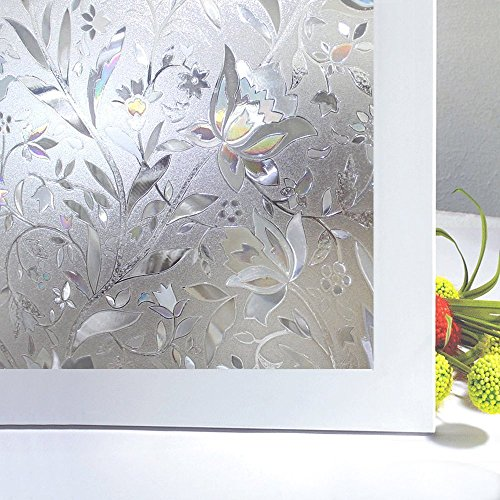 Bloss window film window clings window shades window decals window tint privacy window decorative window film(17.7-by-78.7inch) (Temporary Window Tint compare prices)