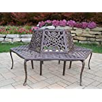 Oakland Living Tea Rose Cast Aluminum Tree Bench, Antique Bronze