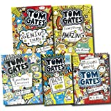 Liz Pichon Tom Gates Collection Liz Pichon 5 Books Set Pack (The Brilliant World of Tom Gates, Excellent Excuses (And Other Good Stuff), Everything's Amazing (sort of), Genius Ideas (Mostly), Best Book Day Ever! (So Far))