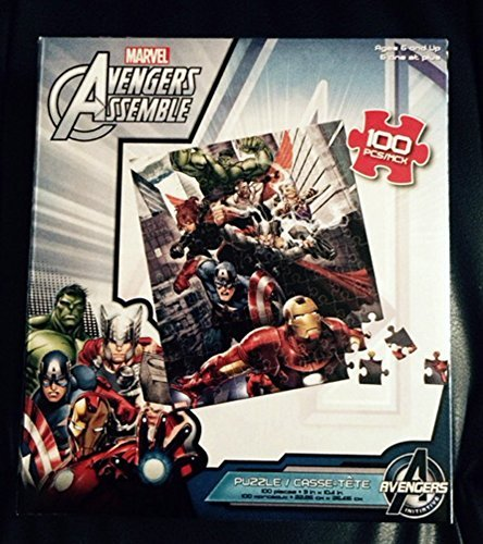 7 Avengers Assemble Fly Over City, 100 Piece Puzzle - 1