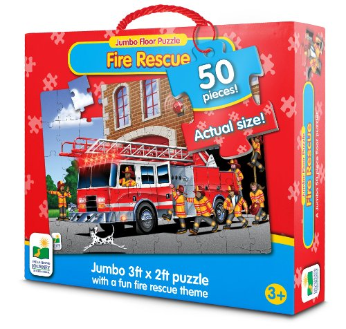 The Learning Journey Jumbo Floor Puzzles - Fire Engine Rescue - 1