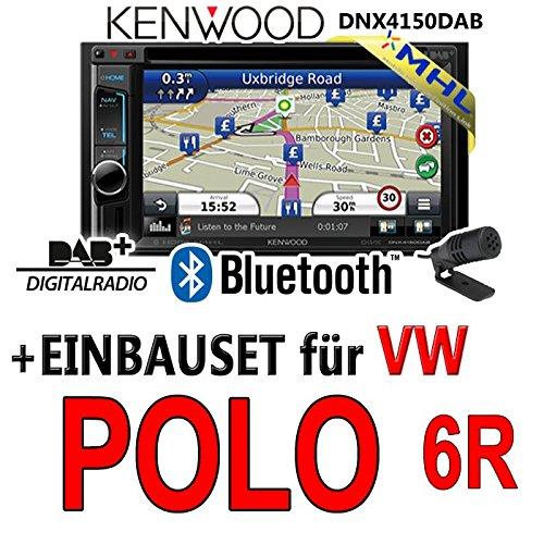 VW polo 6R-kenwood dNX4150DAB 2-dIN navigationsradio mHL autoradio dAB uSB avec kit de montage