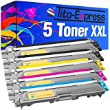 5x Toner-Patrone XXL kompatibel für Brother TN-241 TN-245 HL-3150 CDW DCP-9020 CDW HL-3140 CW PlatinumSerie