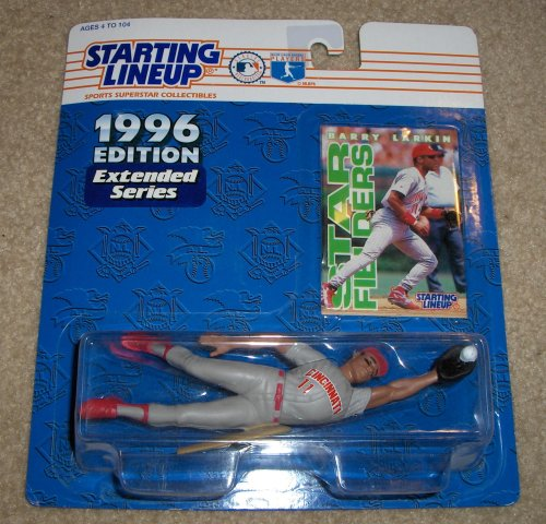 Cincinnati Reds Barry Larkin Action Figure - Starting Lineup Major League Baseball Star Fielders 1996 Edition Extended Series