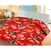 Lali Prints Rose With Red Shade A.C Blanket Single Bed Size Dohar