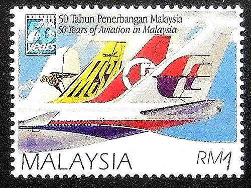 50-years-of-aviation-in-malaysia-malaysian-airlines-framed-postage-stamp-art-16319