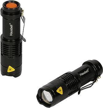 Hausbell 2-Piece 7W Mini LED Flashlight