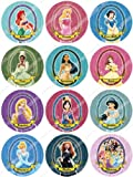 Cakeshop 12 x PRE-CUT Disney Princess Edible Cake Toppers
