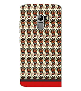 PrintDhaba Pattern D-1635 Back Case Cover for LENOVO K4 NOTE A7010 (Multi-Coloured)