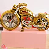 ZQY Golden scooters alarm clocks fashion creative lazy and lovely European style Garden retro personality alarm clock