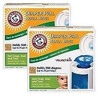 Munchkin Arm & Hammer Diaper Pail Refill Bags, 40-Count from Munchkin
