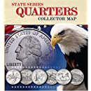 State Series Quarters Collector Map: Also Including the District of Columbia and Territorial Quarters