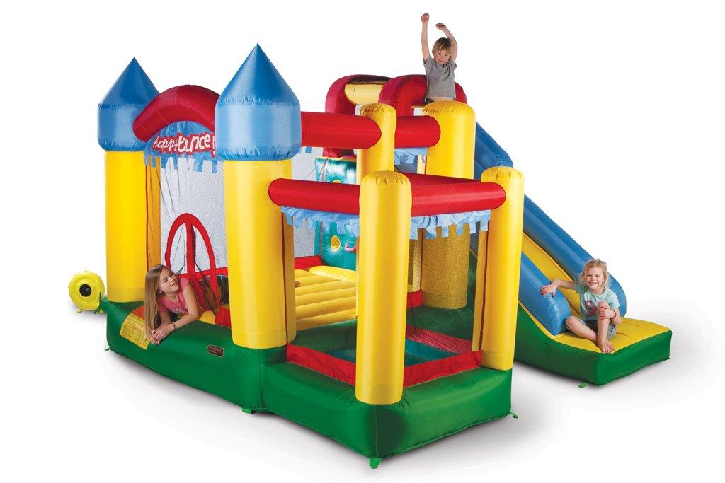 Avyna Hüpfburg Fun Palace 6in1 mit großer Rutsche, Kletterwand, Ball-Pool und Basketballkorb (für bis zu 4 Kindern) jetzt kaufen