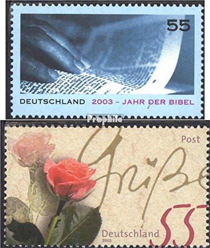 BRD (BR.Deutschland) 2312,2317 (kompl.Ausg.) gestempelt 2003 Jahr der BIbel, Blumengrüße (Briefmarken für Sammler)