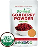 Biofinest Goji Berry (Wolfberry) Juice Powder - 100% Pure Freeze-Dried Superfood - USDA Certified Organic Kosher Vegan Raw Non-GMO - Boost Energy Eye Health - Smoothie Beverage Blend (4 oz Resealable)