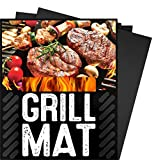 4YANG BBQ Grill Mat- For Grilling or Baking - (Set of 3 Mats) Barbecue Grill Sheets Oven Liner Non-Stick (Black)