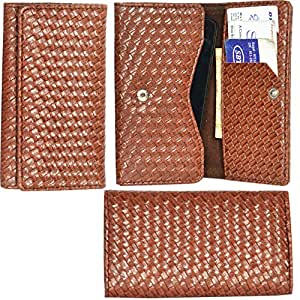 R&A Pu Leather High Quality Wallet Pouch Case Cover With Card Slot & Note Slots,Soft Inner Velvet For Sony Xperia E