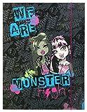 Undercover MHCP0290 - Carpeta de gomas A3, diseño de Monster High