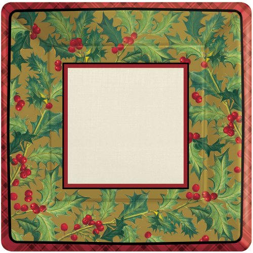 plate 7 inches square winter warmth