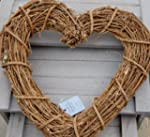 Gisela Graham Natural Twig Heart Wreath