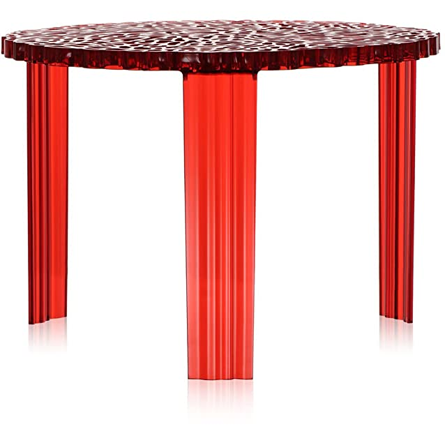 Kartell 8501/RO T-Table Side Table Tavolino, Rosso