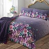 Debenhams Designer Purple Butterfly Garden Bedding Set Super King