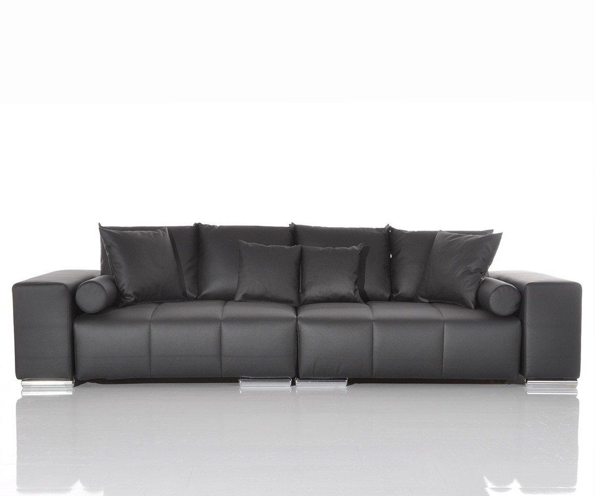 Couch Marbeya Schwarz 285x120 cm Couchgarnitur BigSofa  Kritiken und weitere Informationen