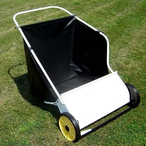 Deluxe Push Lawn Sweeper in White (26 in.) image