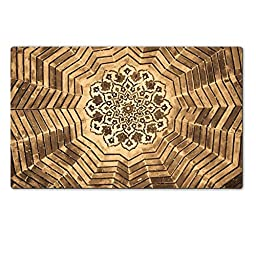 Liili Premium Large Table Mat 28.4 x 17.7 x 0.2 inches Dome of the mosque oriental ornaments from Bukhara Uzbekistan Photo 4175927