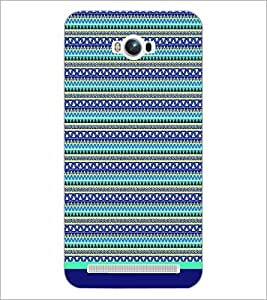 PrintDhaba Tribal Pattern D-1731 Back Case Cover for ASUS ZENFONE MAX ZC550KL (2016) (Multi-Coloured)
