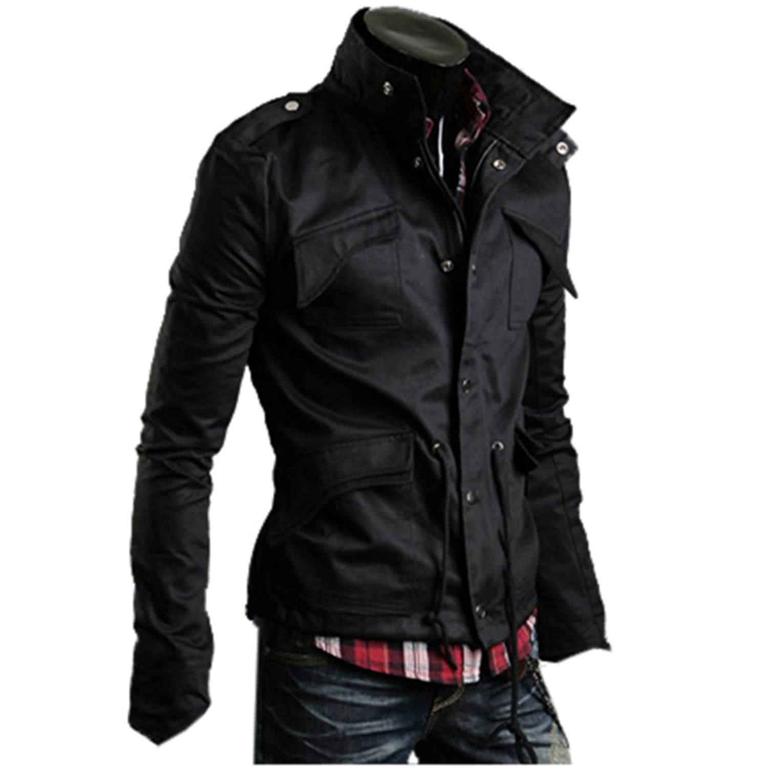 Amoin Men Casual Fashion Zipper Slim Fit Hoodies Jackets Coats Amoin Men s Fashion New