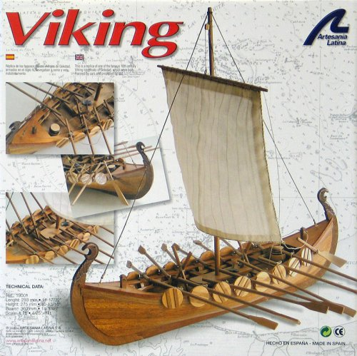 Buy Single Masted Viking Boat w-14 Oars 1-75 by Artesania Latina