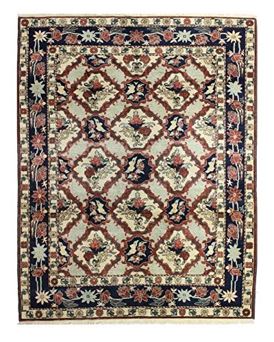 Bashian Rugs Hand Knotted One-of-a-Kind Oushak Rug, Rust, 8' x 10' 1