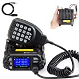 QYT KT-8900D Dual Band Mini Car Ham Radio Mobile Transceiver VHF UHF 136-174/400-480MHz Compact Amateur Two Way Radios + Free Programming Cable (Color: Black)