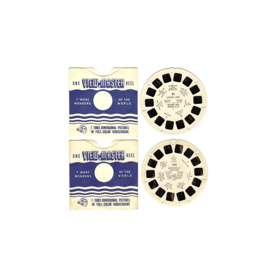 Vintage 1946   1960 Sawyers View Master Reels #21 and #152 Oregon