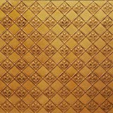 Discounted Cheap Kitchen Backsplash Faux Decorative Antique Gold Plastic Wall Covering Ul Rated - 26ft.x2ft. Roll Wc-80 Decorative!glue On,nail On,staple On,tape On!ul Rated.fleur De Lis.
